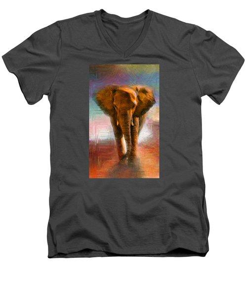 Elephant 1 Men's V-Neck T-Shirt