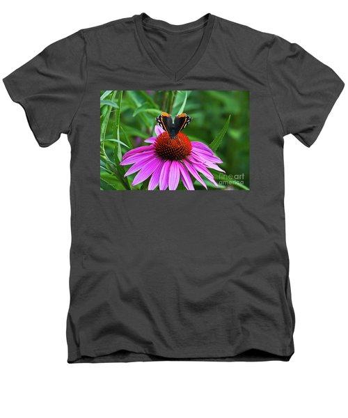 Elegant Butterfly Men's V-Neck T-Shirt