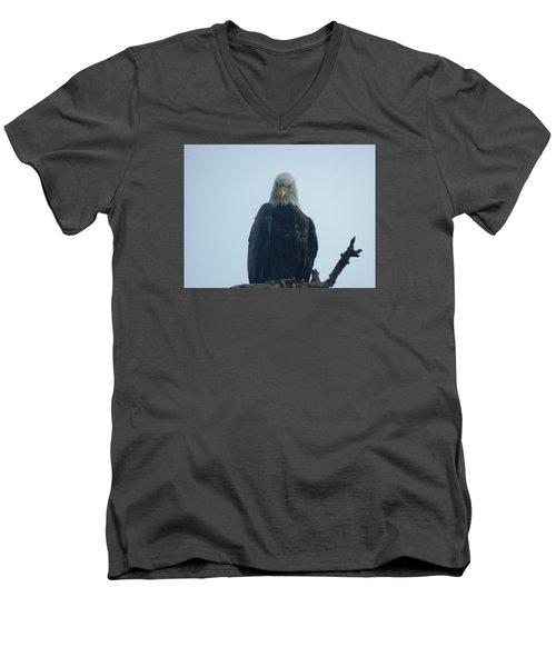 Elegant Eagle Men's V-Neck T-Shirt