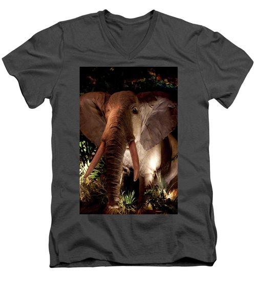 Elephant At Rainforest Cafe Men's V-Neck T-Shirt