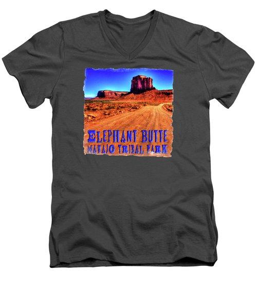 Elephant Butte Monument Valley Navajo Tribal Park Men's V-Neck T-Shirt