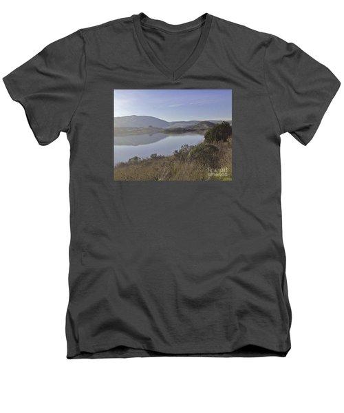 Elephant Hill In Mist Men's V-Neck T-Shirt