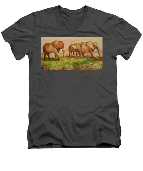 Elephant Parade Men's V-Neck T-Shirt