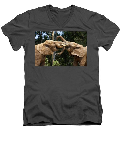 Elephant Play Men's V-Neck T-Shirt