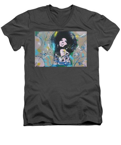 Eletric Ross Men's V-Neck T-Shirt