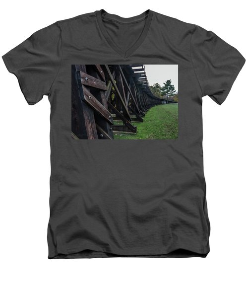 Harpers Ferry Elevated Railroad Men's V-Neck T-Shirt