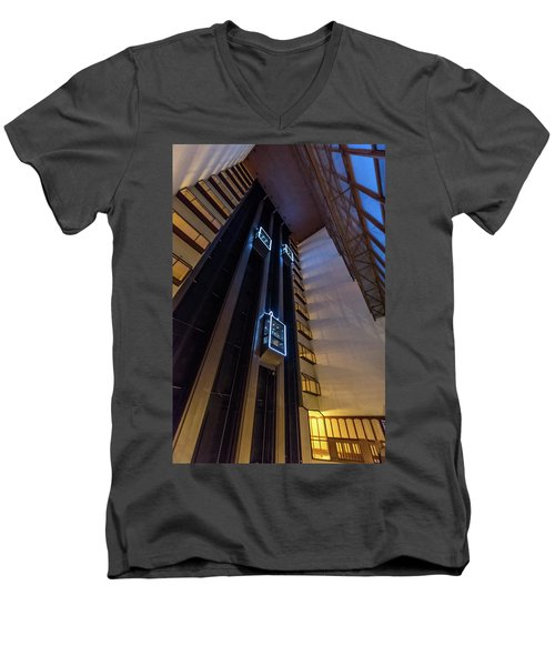 Men's V-Neck T-Shirt featuring the photograph Elevated by Randy Scherkenbach