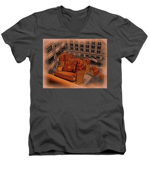 Elevator Down Men's V-Neck T-Shirt