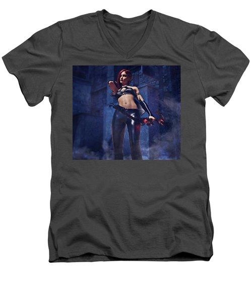 Elf Assassin Men's V-Neck T-Shirt