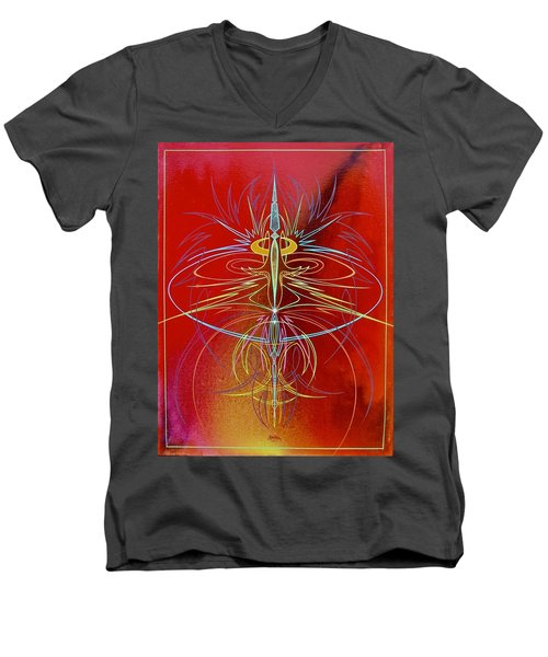 Elijah's Whirl Wind  Men's V-Neck T-Shirt