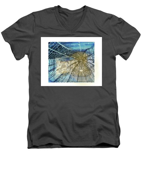 Elitch Pavilion Redo Men's V-Neck T-Shirt by Deborah Nakano