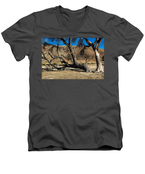 Elizabeth Lake Tree Men's V-Neck T-Shirt