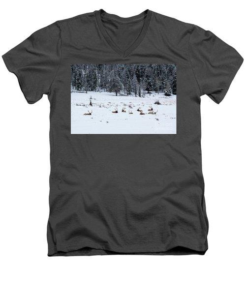 Elk - 9134 Men's V-Neck T-Shirt