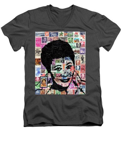 Lady Ella Fitzgerald Men's V-Neck T-Shirt