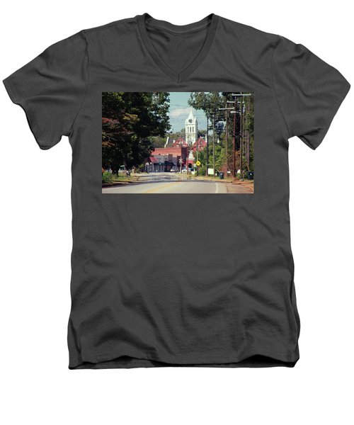Ellaville, Ga - 2 Men's V-Neck T-Shirt by Jerry Battle