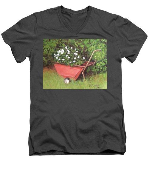 Eloise's Garden Cart Men's V-Neck T-Shirt