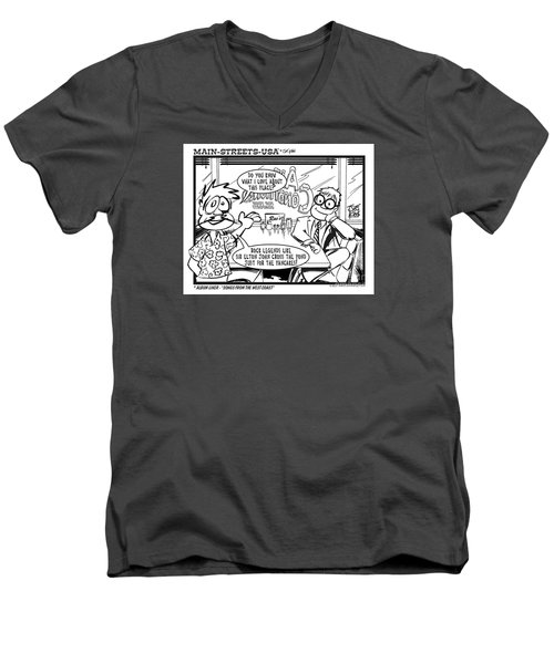 Elton Men's V-Neck T-Shirt by Joe King