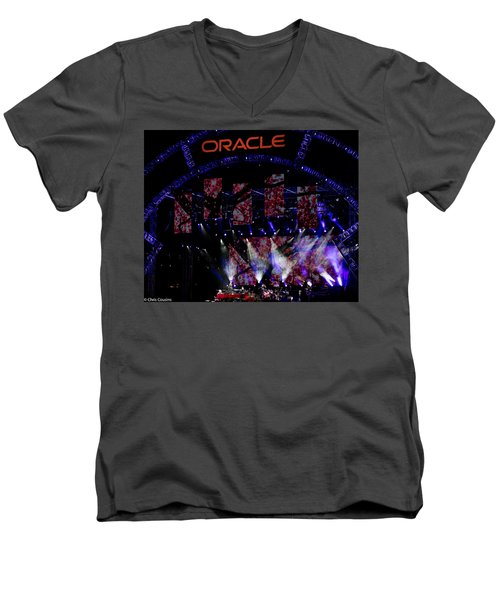 Elton John At Oracle Open World In 2015 Men's V-Neck T-Shirt
