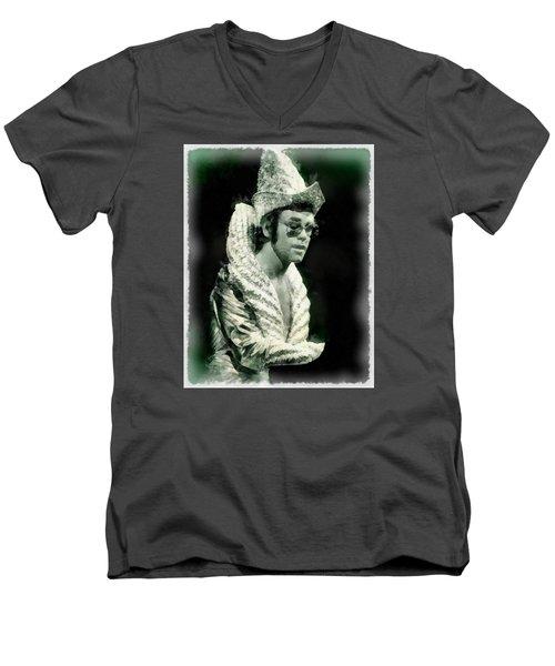 Elton John By John Springfield Men's V-Neck T-Shirt by John Springfield
