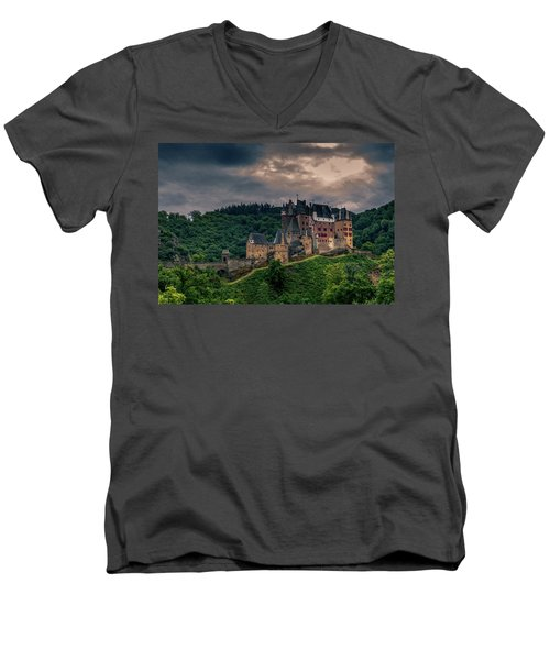 Eltz Castle Men's V-Neck T-Shirt by Martina Thompson