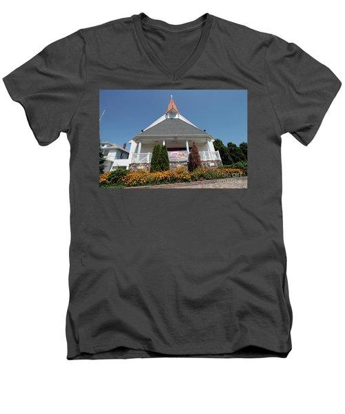 Emanuel Lutheran Church  Patchogue Ny Men's V-Neck T-Shirt