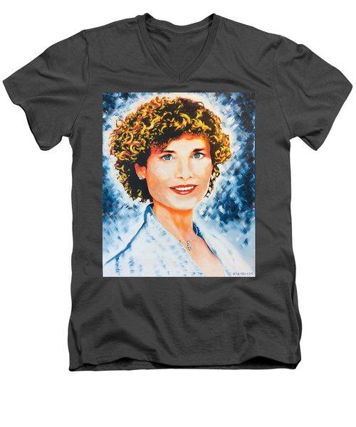 Emanuela Men's V-Neck T-Shirt by Victor Minca