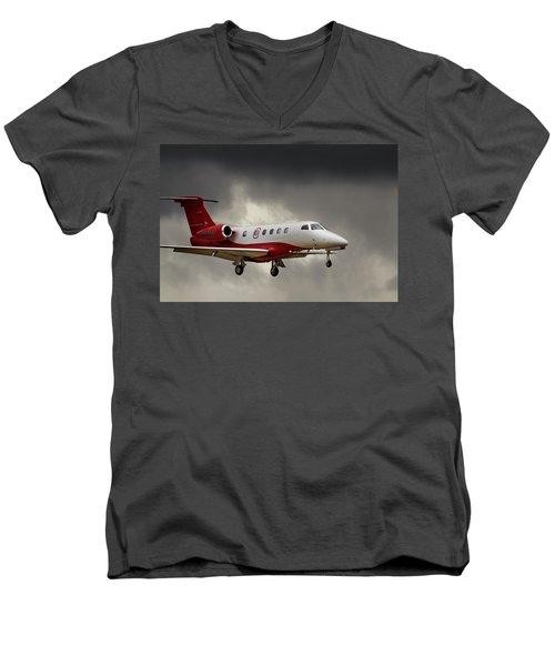 Emb-505  Landing Men's V-Neck T-Shirt by James David Phenicie