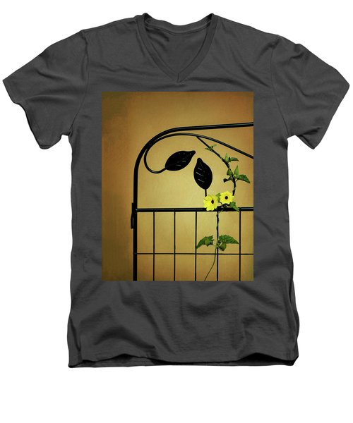 Men's V-Neck T-Shirt featuring the photograph Embrace by Tom Mc Nemar