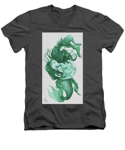 Embracing Mermen Men's V-Neck T-Shirt