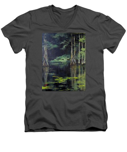 Emerald Bayou Men's V-Neck T-Shirt