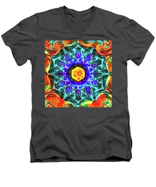 Emerald Circle Mandala Men's V-Neck T-Shirt