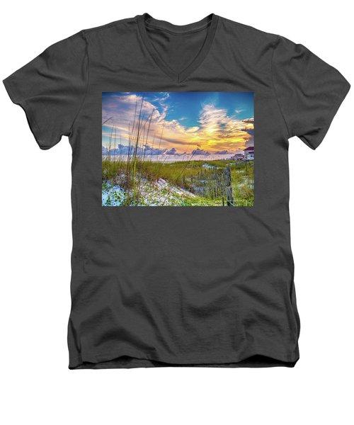 Emerald Coast Sunset Men's V-Neck T-Shirt