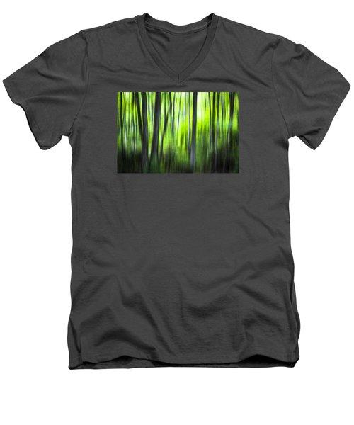 Green Forest - North Carolina Men's V-Neck T-Shirt