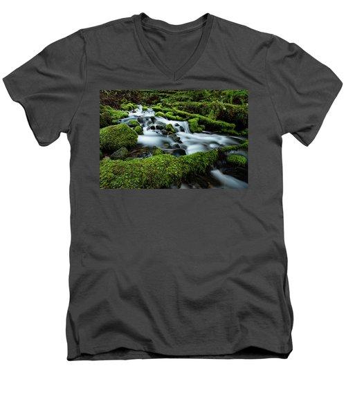 Emerald Flow Men's V-Neck T-Shirt