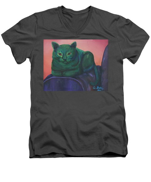 Emerald Men's V-Neck T-Shirt