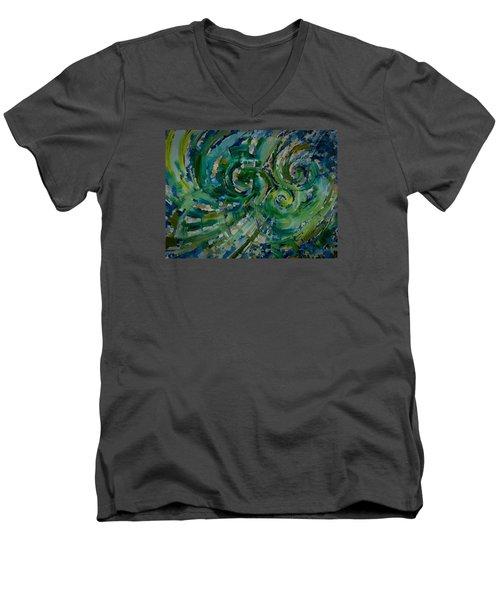 Emerald Green Men's V-Neck T-Shirt