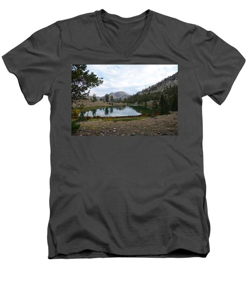 Jarbidge Wilderness Emerald Lake Men's V-Neck T-Shirt by Jenessa Rahn