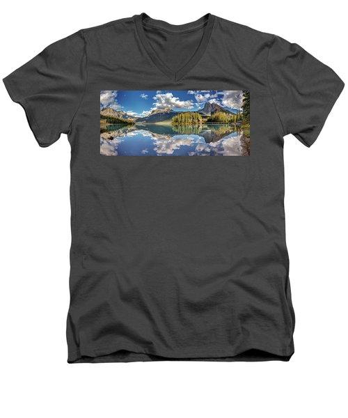 Emerald Lake Panorama Men's V-Neck T-Shirt