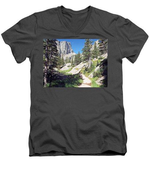 Emerald Lake Trail - Rocky Mountain National Park Men's V-Neck T-Shirt