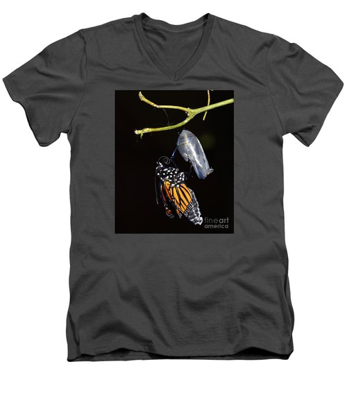 Men's V-Neck T-Shirt featuring the photograph Emergent by Lew Davis