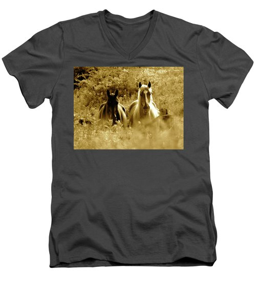 Emerging From The Farm Men's V-Neck T-Shirt