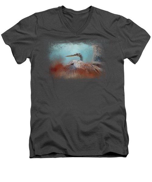 Emerging Heron Men's V-Neck T-Shirt by Jai Johnson