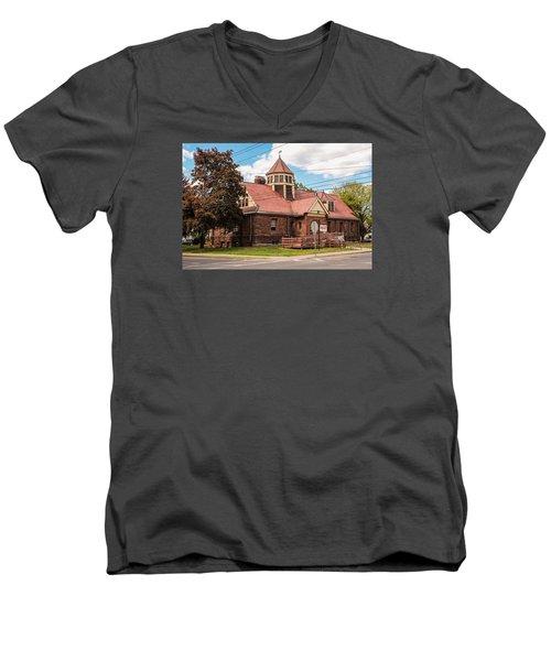 Emily Williston Memorial Library And Museum Men's V-Neck T-Shirt