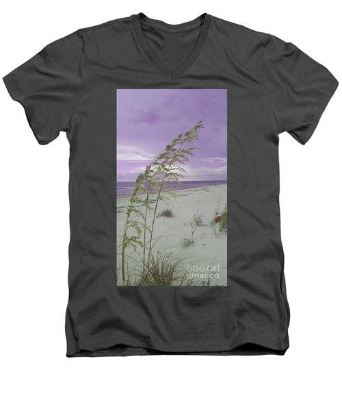 Emma Kate's Purple Beach Men's V-Neck T-Shirt