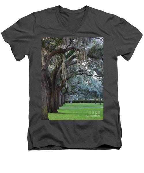 Emmet Park In Savannah Men's V-Neck T-Shirt