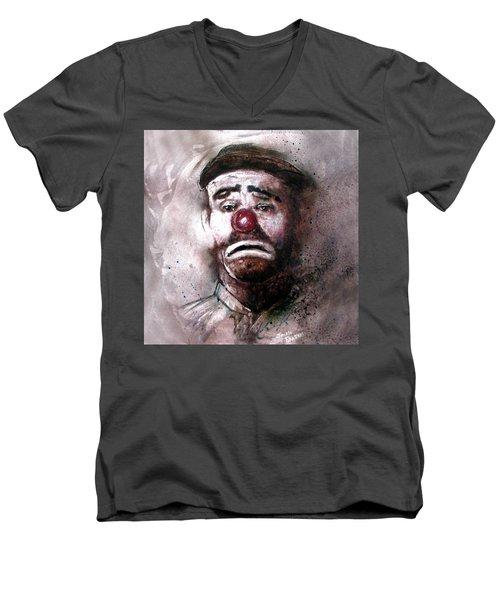 Emmit Kelly Clown Men's V-Neck T-Shirt