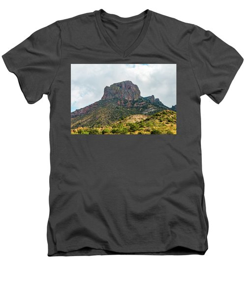 Emory Peak Chisos Mountains Men's V-Neck T-Shirt