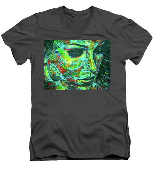Emotion Green Men's V-Neck T-Shirt