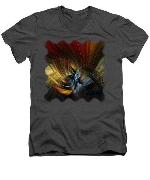 Emotional Release Men's V-Neck T-Shirt by Mark Myhaver