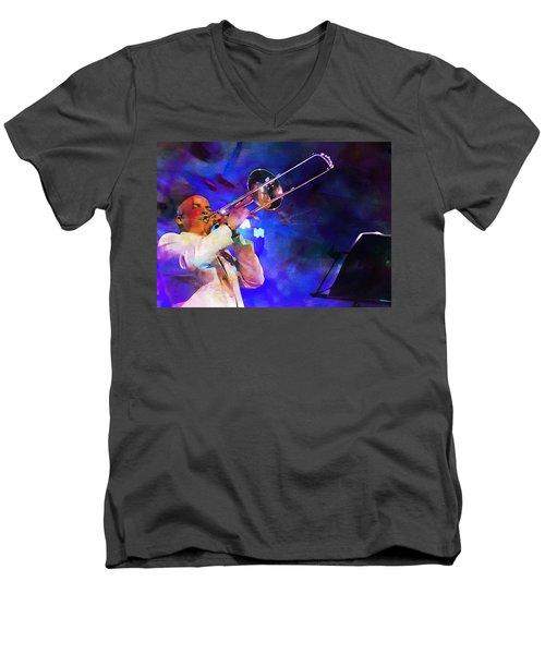 Emperor Of Salsa Dura, Jimmy Bosch  Men's V-Neck T-Shirt